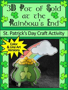 St. Patrick's Day Craft Activities: 3D Pot of Gold Craft Activity