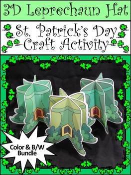 St. Patrick's Day Craft Activity: 3D Leprechaun Hat Craft Activity Bundle