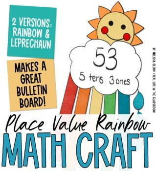 Spring Craft: Place Value Rainbow
