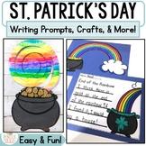 St. Patrick's Day Craftivity : Writing Templates, ELA, Mat