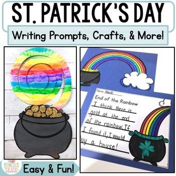 St. Patrick's Day Craftivity : Writing Templates, ELA Printables, Math & More