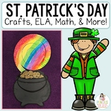 St. Patrick's Day Craftivity : Writing Templates, ELA Printables, Math & More