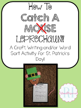 St. Patrick's Day Craft, Writing, and Word Work Activity