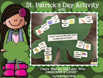 """St. Patrick's Day Craft with """"There Was an Old Woman Who Swallowed a Clover"""""""
