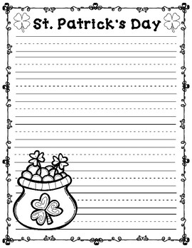 St. Patrick's Day Craftivity:  Journal Prompt for St. Patrick's Day
