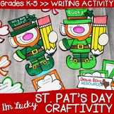 St. Patrick's Day Craftivity | St. Patrick's Day Writing  | March Bulletin Board