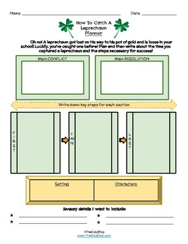 St. Patrick's Day Craftivity & Writing Exercise