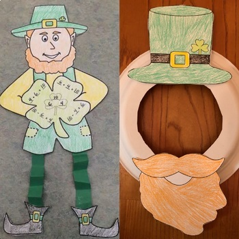 St. Patrick's Day Leprechaun Printable Crafts DISCOUNTED Bundle! Easy Prep!