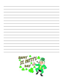 St Patrick's Day Creative Story Writing Template Stationary 2nd-5th grade