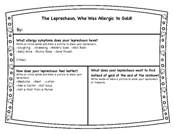 St. Patrick's Day Creative Writing, The Leprechaun, Who Is Allergic to Gold!