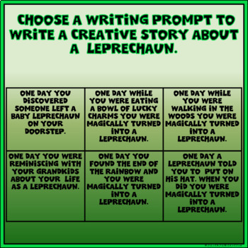St. Patrick's Day Creative Writing in Google Slides™