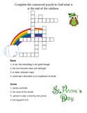 St. Patrick's Day Cross word for Reading Street vocabulary 5.2