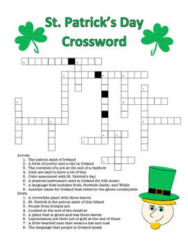 St. Patrick's Day Crossword