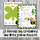 St. Patrick's Day Crossword Puzzle and Word Search