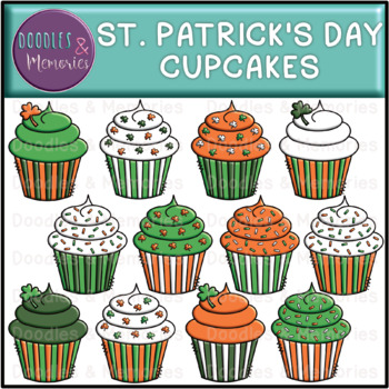St. Patrick's Day Cupcakes Clipart