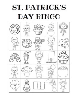 St. Patrick's Day Bingo Custom Printables