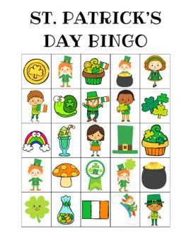 St. Patrick's Day Bingo Custom Printables