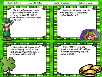 St. Patrick's Day Customary Conversion Word Problems