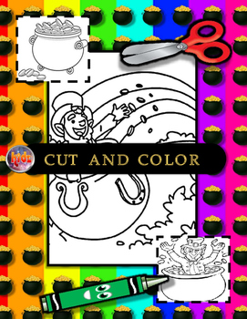 St. Patrick's Day Cut, Color, Read, Write and Identify mini flashcards