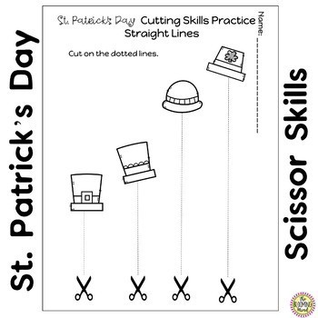 Cutting Practice Worksheets {St Patricks Day}