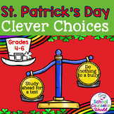 St. Patrick's Day DIGITAL Lesson Plan on Clever Choices, G