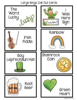 St. Patrick's Day Bingo Game DIY {DO IT YOURSELF}