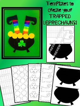 St. Patrick's Day DOLLAR DEAL Trapped Leprechauns Craft K 1 2