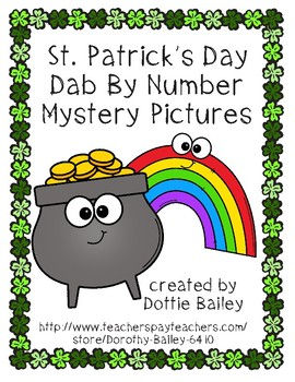 St. Patrick's Day Dab By Number Mystery Pictures