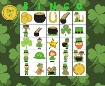 St. Patrick's Day Describing Bingo