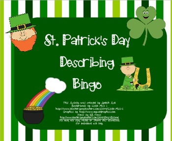 St. Patrick's Day Describing Bingo