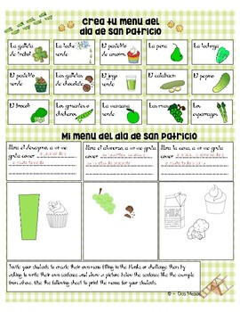 "St. Patrick's Day ""Día de San Patricio"" Spanish Writing + Activity Pack"