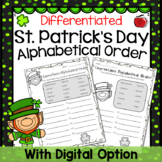 St. Patrick's Day Alphabetical (ABC) Order - Differentiate