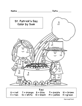 St. Patrick's Day Differentiated Color By Sum