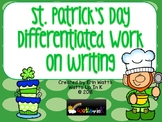 St. Patrick's Day Differentiated Work on Writing