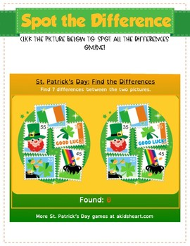 St. Patrick's Day Digital Activity Notebook