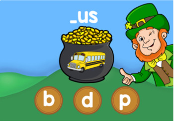 St. Patrick's Day Digital CVC Word Game Boom Cards