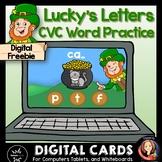 St. Patrick's Day Digital CVC Word Game Boom Cards