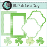 St. Patrick's Day Digital Clip Art - Paper Moon Clip Art
