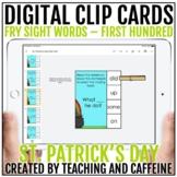 St. Patrick's Day Digital Clip Cards   Sight Word Activiti