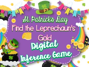 St. Patrick's Day Digital Inference Game-Find the Leprecha
