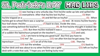 St. Patrick's Day Digital Literacy and Word Work for use with Google Slides