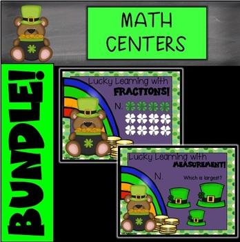 St. Patrick's Day Digital Math Centers BUNDLE