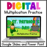 St. Patrick's Day Digital Multiplication Practice