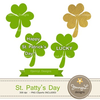 St. Patrick's Day Digital Paper and clipart
