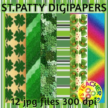 St. Patrick's Day Digital Papers