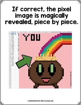 St Patrick's Day Math: Digital Pixel Art Magic Reveal ADDITION