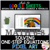 St. Patrick's Day Math Digital Pixel Art Solving One Step