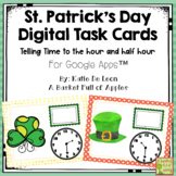 St. Patrick's Day Digital Task Cards: Telling Time to the