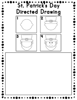 St. Patrick's Day Directed Drawing Activity for Including Art in any Subject