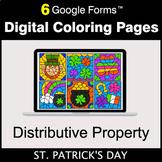 St. Patrick's Day: Distributive Property - Google Forms |